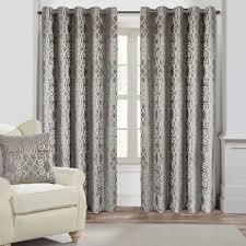 Grey And Silver Curtains Athena Silver Eyelet Curtains Harry Corry Limited