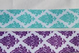 7 8 grosgrain ribbon turquoise and purple latice 7 8 grosgrain ribbon by the yard for