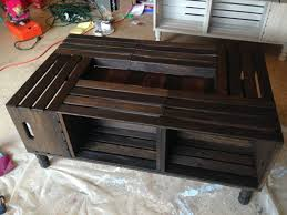 How To Make Wine Crate Coffee Table - coffee table stupendous wine crate coffee table image