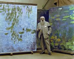 the painter 1923 photo of claude monet colorized see the painter in the same