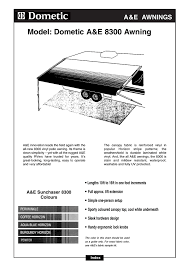 A E Systems By Dometic Awning Model Dometic A U0026e 8300 Awning