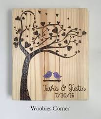 customized wedding gift personalized wedding gift birds in tree newly by wordoflove