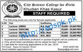 journalists jobs in pakistan newspapers urdu news opportunities for m a urdu m a english m sc math bcs and mcs