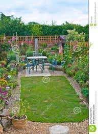 backyard garden in england royalty free stock photography image