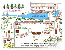 Wisconsin Campgrounds Map by Campground Map Cedar Lake Family Campground