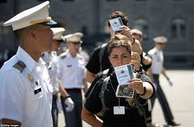 haircuts appropriate for navy women 1 300 cadets get their military haircut as they report to west