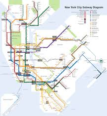 Metro Map Chicago by Printable New York City Map New York City Subway Map Page Below