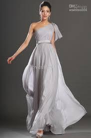light gray long dress inexpensive 2014 one shoulder light grey a line long evening dresses