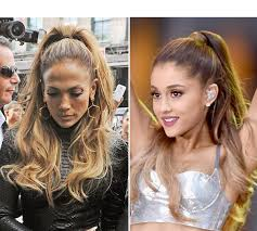 j lo ponytail hairstyles jennifer lopez steals ariana grande high ponytail hairstyle