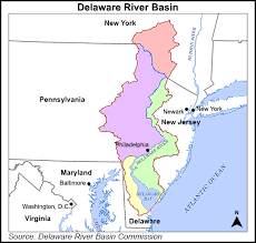 map of maryland delaware and new jersey delaware river basin commission considering ban on natgas