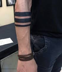 three solid armband tattoo for men for panda pinterest