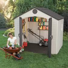 lifetime outdoor storage shed 8 u0027 x 7 5 u0027 free shipping today