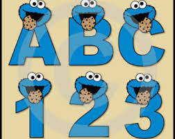 cookie monster clipart blue pencil and in color cookie monster