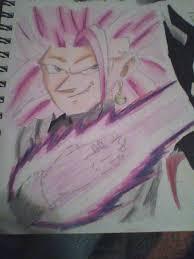 black goku sketches super saiyan rose 3 by xxextremesamx on