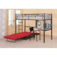 Black Metal Futon Bunk Bed Vintage Style Bedroom With Futon Bunk Bed In Black Finish And