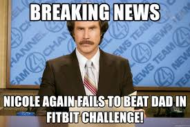 Challenge Fails Meme Breaking News Again Fails To Beat In Fitbit Challenge