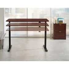 Adjustable Desk Height by Realspace Magellan Steel Wood Stand Up Height Adjustable Desk 43