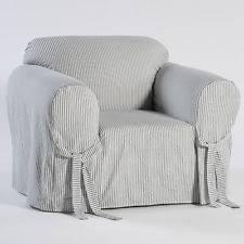 White Armchair Slipcover Nautical Furniture Slipcovers Ebay