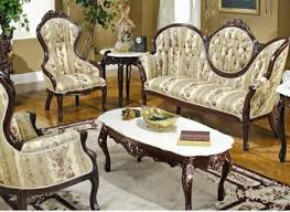 Living Room Furniture Ebay by French Provincial Living Room Set 685 In Brown Fabric Fiona Andersen