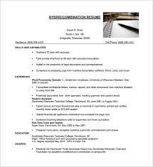 hybrid resume hybrid resume template word combination resume template 10 free