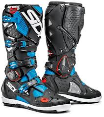 black motorcycle shoes sidi crossfire 2 srs motocross boots sidi cross black blue sidi