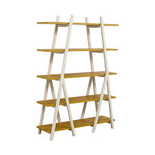 west elm white bookcase 31 off west elm west elm white ladder bookshelf storage