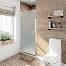 Satin Glass Shower Door by 6mm Pivot Frosted Glass Shower Door 900mm