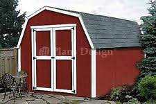 gambrel shed plans ebay