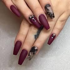 best 20 burgundy acrylic nails ideas on pinterest burgundy