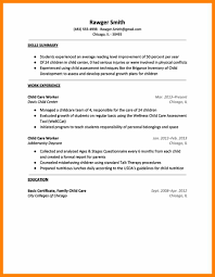 resume for a daycare job resume daycare worker resume for study