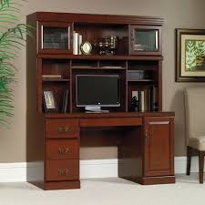 sauder desk with hutch 404944 heritage hill classic cherry computer credenza and hutch