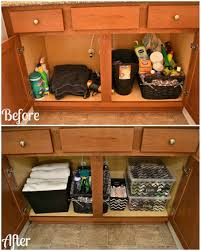 how to organize under bathroom sink