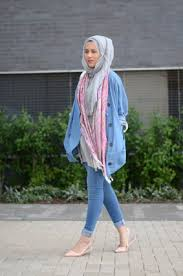 latest women casual hijab styles with jeans trends 2017 2018