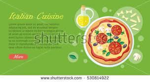 web cuisine cuisine web pizza tomatoes เวกเตอร สต อก 530814922
