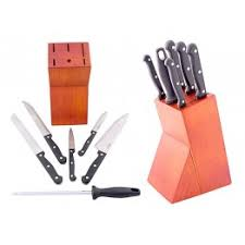 prestige kitchen knives prestige kitchen knife block set of 6 pieces pr56007