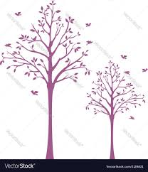 tree with birds wall decal royalty free vector image