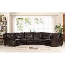 Top Grain Leather Sectional Sofa Full Grain Leather Sectional Wayfair