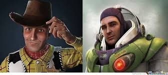 Buzz Lightyear And Woody Meme - real life woody and buzz lightyear by recyclebin meme center
