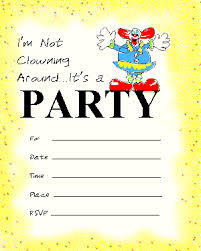 printable invitations printable party invitations children s clown around party
