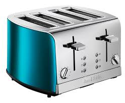 russell hobbs 19710 jewels 4 slice toaster blue amazon co uk