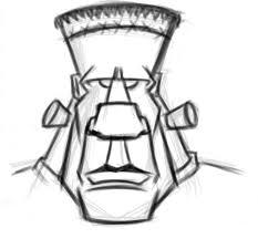 frankenstein cartoon head sketch 05 flickr photo sharing