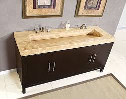 single sink to double sink plumbing 72 travertine counter top double stone r sink bathroom vanity