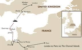 London to Paris via the Channel Islands European Tours