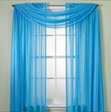 Turquoise Sheer Curtains Monagifts 2 Panels Bright Turquoise Sheer Voile Window