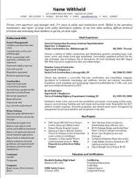 Best Construction Resume by Image Result For Construction Supervisor Resume Pdf Kannan