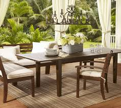 Patio Furniture Columbus Ga by Chesapeake Rectangular Extending Dining Table Pottery Barn