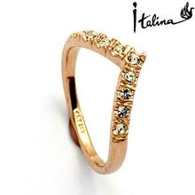 aliexpress buy brand tracyswing rings for women 18krgp band ring promotion shop for promotional 18krgp band ring on