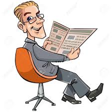 people reading newspaper clipart clipartxtras
