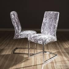 modern grey glass top 1 6m dining table set 6 x silver velvet