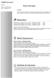 Modern Resume Samples by Free Resume Templates To Download Examples Of Resumes